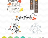 It's Fall Y'all SVG File: Fall SVG File, Leaves are Falling Autumn is Calling dxf svg,  bundle, DXF Silhouette Cameo, Cricut Fall Cut Files