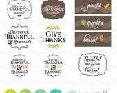 Grateful Thankful Blessed SVG File: Fall SVG File, Autumn dxf, fall svg bundle, DXF Silhouette Cameo, Cricut Fall Cut Files, Fall Sign svg