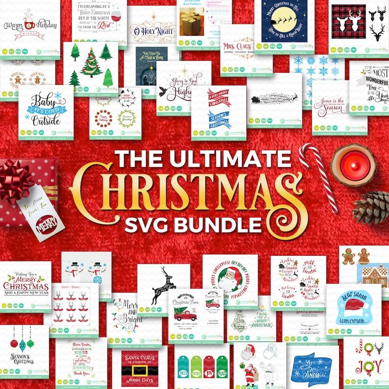 Christmas SVG Bundle Christmas SVG Files Santa svg Holiday image 0