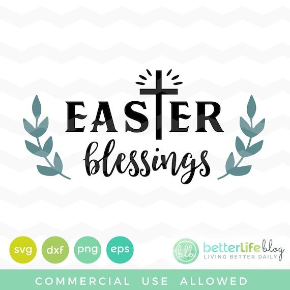Easter Blessings Svg Easter Blessing Words Svg File Dxf Etsy