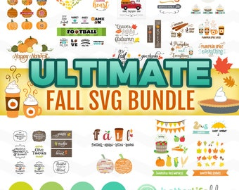 Fall SVG Bundle: Fall SVG Files, Autumn svg Bundle, It's Fall Y'all svg, fall svg bundle, DXF Silhouette Cameo, Cricut Fall Cut Files