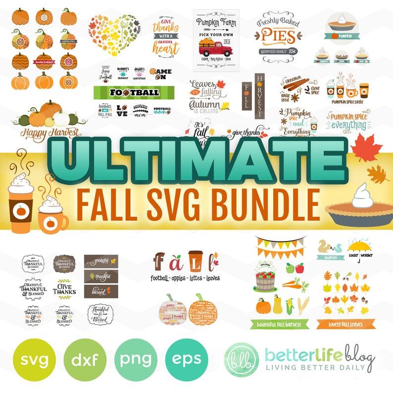 Fall SVG Bundle: Fall SVG Files Autumn svg Bundle It's image 0