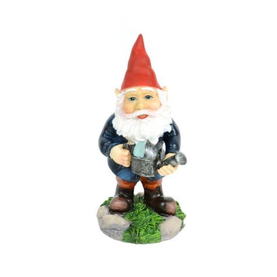 "Miniature Fairy Garden Dollhouse Resin 3/"" x 1.5/"" x 1.5/"" Gnome with Camera"