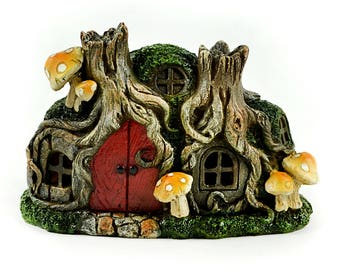 "LED tree Stump House - 1pc - 6.25"" x 4.25"" x 3.25"""