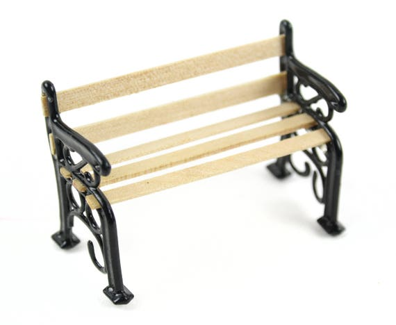 Enjoyable Park Bench Wood And Metal Bench Country Bench Miniature Bench For People Village Bench Gmtry Best Dining Table And Chair Ideas Images Gmtryco
