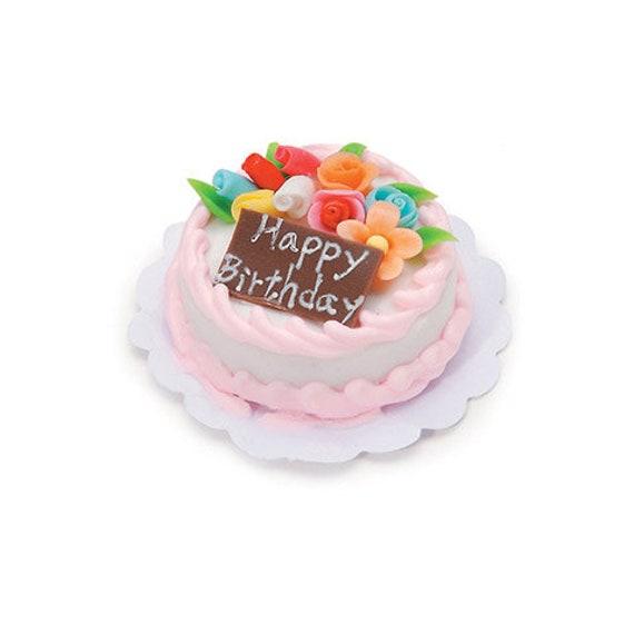 Terrific Miniature Birthday Cake Dollhouse Kitchen Miniature Mini Etsy Personalised Birthday Cards Vishlily Jamesorg
