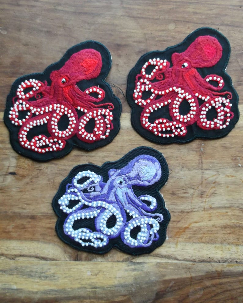 Embroidered Octopus Patch