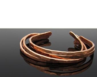 Copper Bangles, Copper Bracelet, Bangle Bracelet, Bangle Set, Open Bangles, Copper Jewelry, Hammered Bangle, Hammered Jewelry