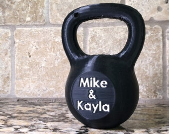 ef7a02fd70 Personalized Kettlebell - 3D printed gift for weightlifting, powerlifting,  crossfit, fitness, weight lifting, killin it