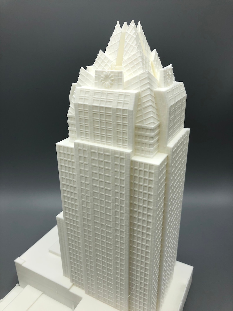 3D Printed Frost Tower Model - Downtown Austin Skyline Frost bank tower  Austin Texas