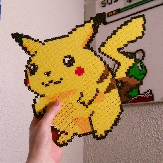 Pokemon Classic Chubby Pikachu Pixel Perler Art