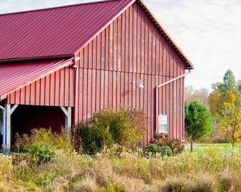 Red Barn with Reflection Fine Art digital download Photo