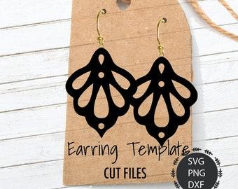 Earrings Svg, Strawberry Earrings Svg, Faux Earrings, Leather Earrings, Earring Set, Tear Drop PNG, DXF, For Cricut, Silhouette Cut Files