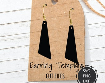 Earrings Svg, Triangle Earrings Svg, Leather Earrings, Long Triangle Earrings, Faux Earrings, Svg, PNG, DXF, For Cricut, Silhouette Cut