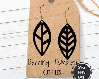Earrings Svg, Leaf Earrings Svg, Leather Earrings, Earring Set, Leaf Svg, PNG, DXF, For Cricut, Silhouette Cut Files