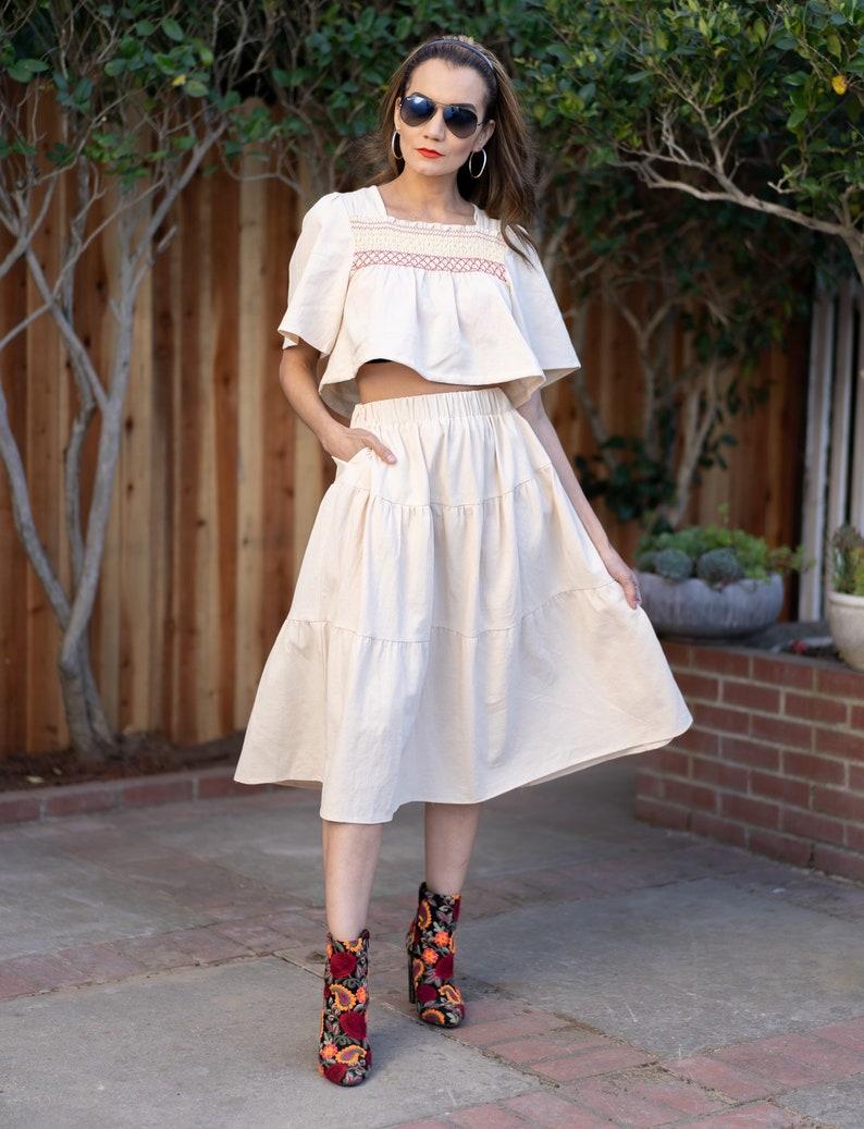 Skirt and top upcycled set
