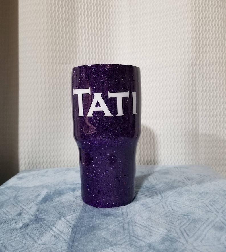 54739972a4d Glitter tumbler / Glittered yeti / Personalized yeti / Purple / Glittered  cup / Monogram Yeti / Unicorn Tumbler / Personalized rtic