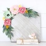 Felt Flower Swag, Floral Wall Swag, Nursery Floral Swag, Flower Garland, Pink, Mint Flower Swag, Cloud Island Floral Fields Bedding
