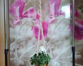 Macrame plant hanger, macrame hanging basket, large macrame hanging, home décor, hanging plants, indoor plant hanger, macrame wall hanging