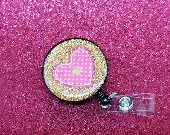 Valentine's day heart badge reel