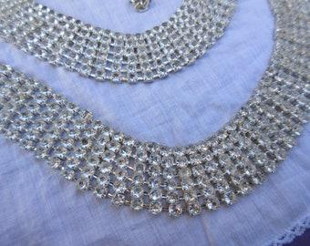 Vintage Swarovski Crystal Belt Dazzling with Rows of Crystals