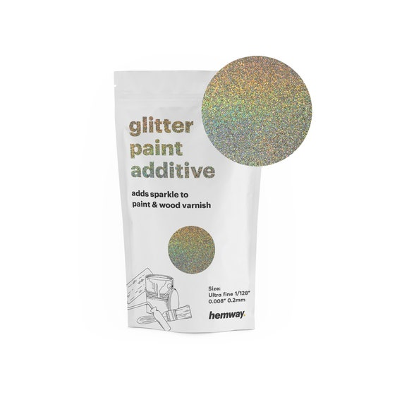 Hemway Glitter Paint Additive 100g For Emulsion Acrylic Walls Ceiling Feature Wall Bedroom Bathroom Ultrafine Gold Silver Holographic