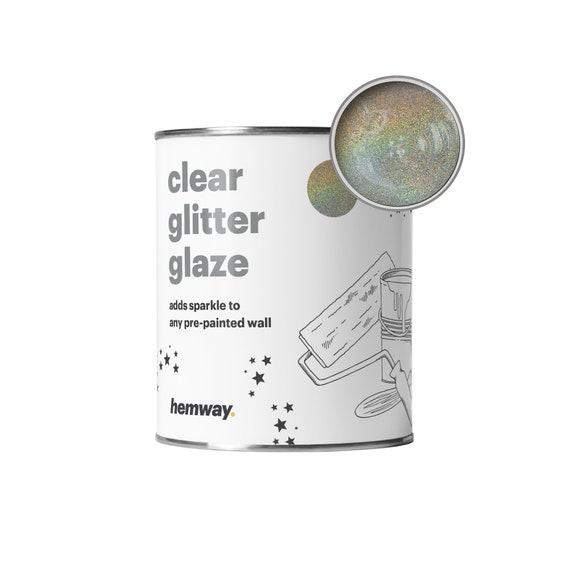 Hemway 1l Clear Glitter Paint Glaze Gold Silver Holo For Pre Painted Walls Emulsion Acrylic Latex Wood Varnish Matt Soft Sheen