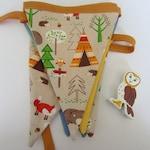 Woodland Camping themed handmade bunting
