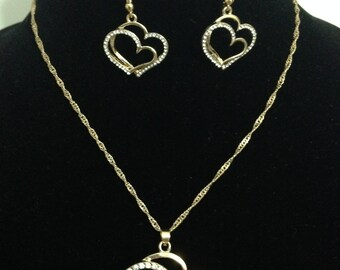 Double Heart Pendent Set/Gift For Her