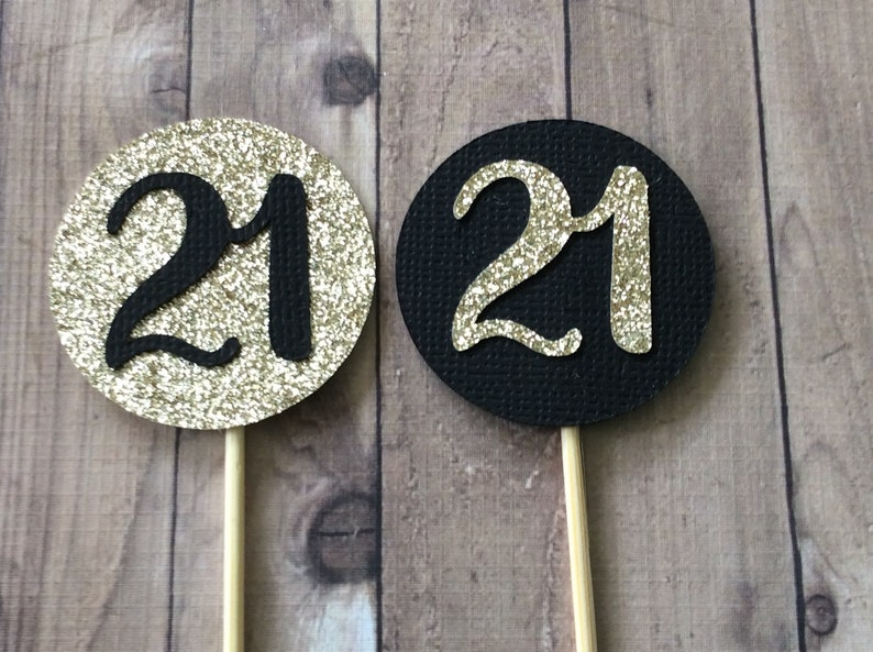 21st Birthday Decorations Party Number