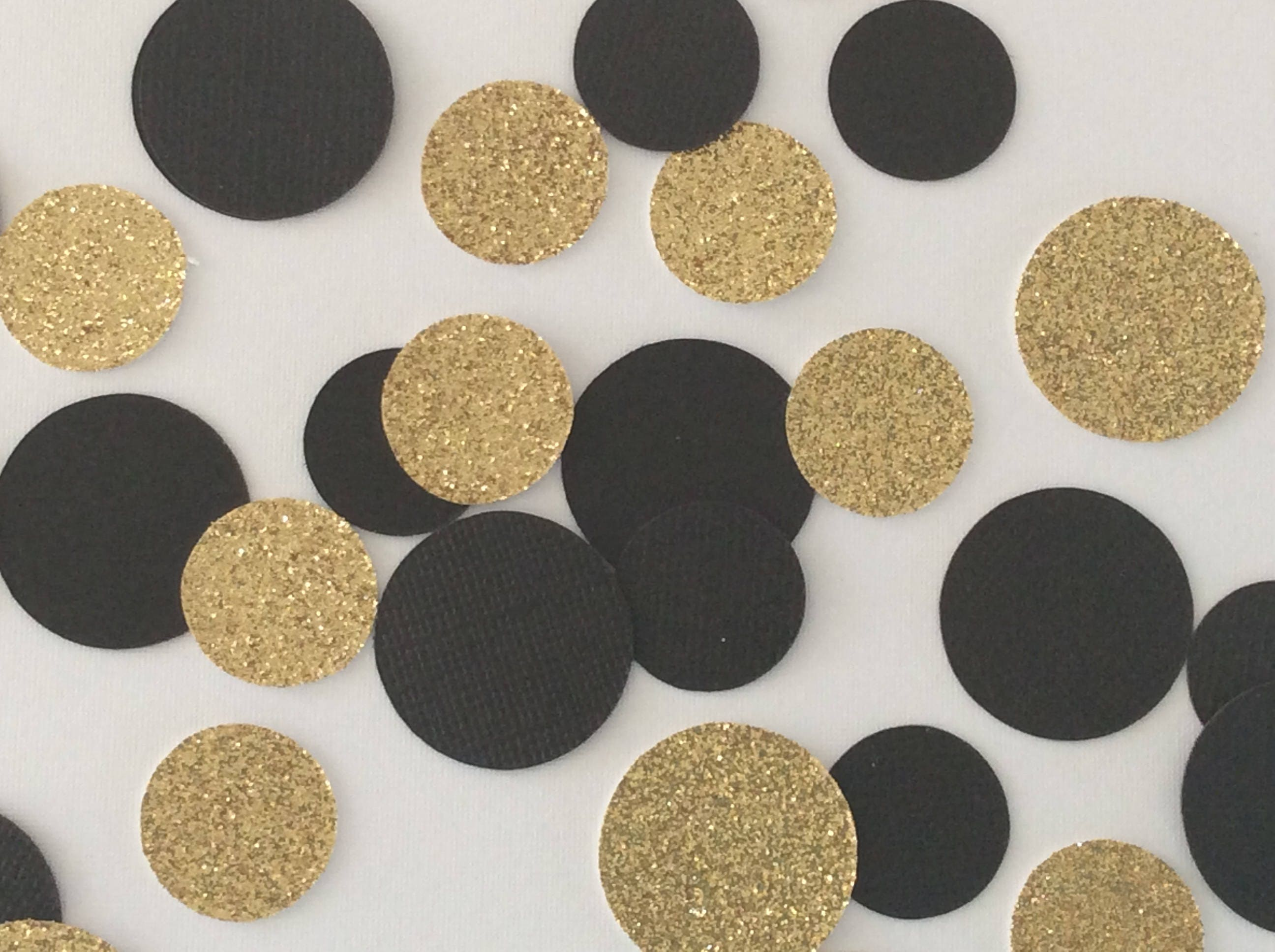 Black And Gold Confetti Engagement Party Decorations