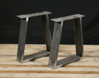 Steel Bench Legs Coffee Table Legs Metal Legs Square Bench Base Coffee Table Base Set2
