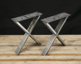 Steel Bench Legs Coffee Table Legs Metal Legs Square Bench Etsy