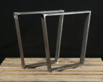 Kitchen table legs etsy trapezoid steel table legs kitchen table legs powder coated set of 2 hight 28 workwithnaturefo