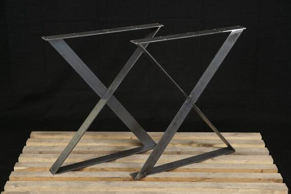 Stalen tafelpoten x stijl benen platte stalen poten etsy