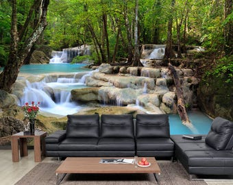 Details about  /Photo wallpaper Wall mural Removable Self-adhesive Ban Gioc Waterfall