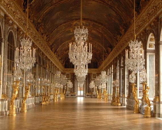Palace Of Versailles Wall Mural Palace Of Versailles Panorama Etsy