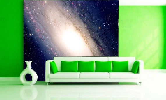 Large Wall Mural Xxl Wall Poster Of Galaxy Colorful Photo Etsy