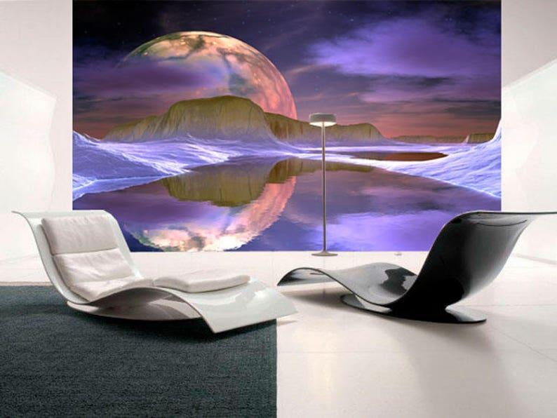 art wall mural for living room Full moon large wall murals for home decor Nature paper wall murals for interior SKU 20218 SKU 20218
