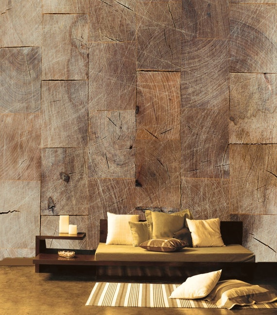 Wooden Boards Removable Wallpaper Rustic Pattern Temporary Etsy