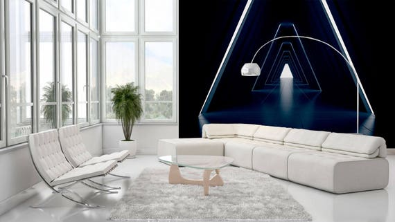 Sci Fi Wall Mural For Living Room Office Decor Fantasy Etsy