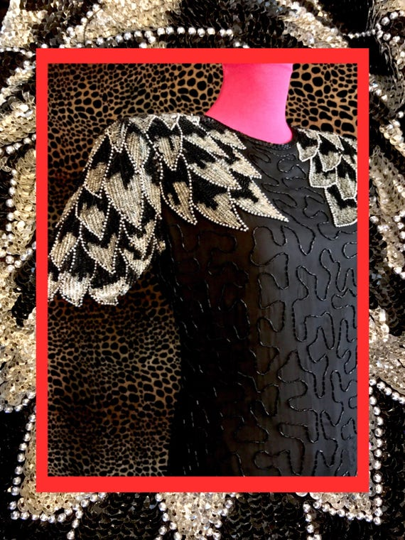 vtg feather dress//fabulous condition