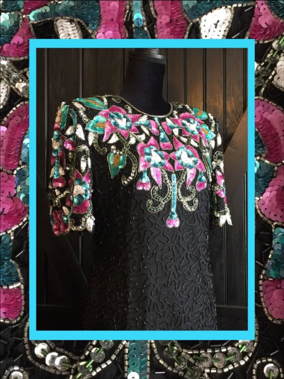 stunning vtg dress//floral fabulousness