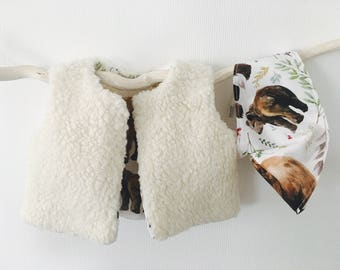Shepherd baby - bear pattern vest size 6 month and year