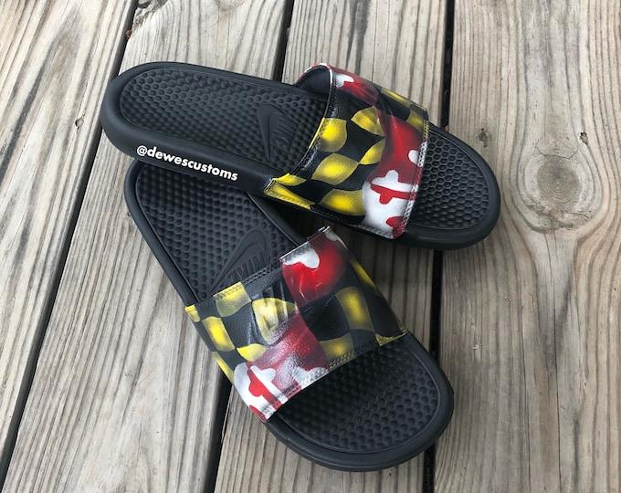 Maryland Pride Nike Slides