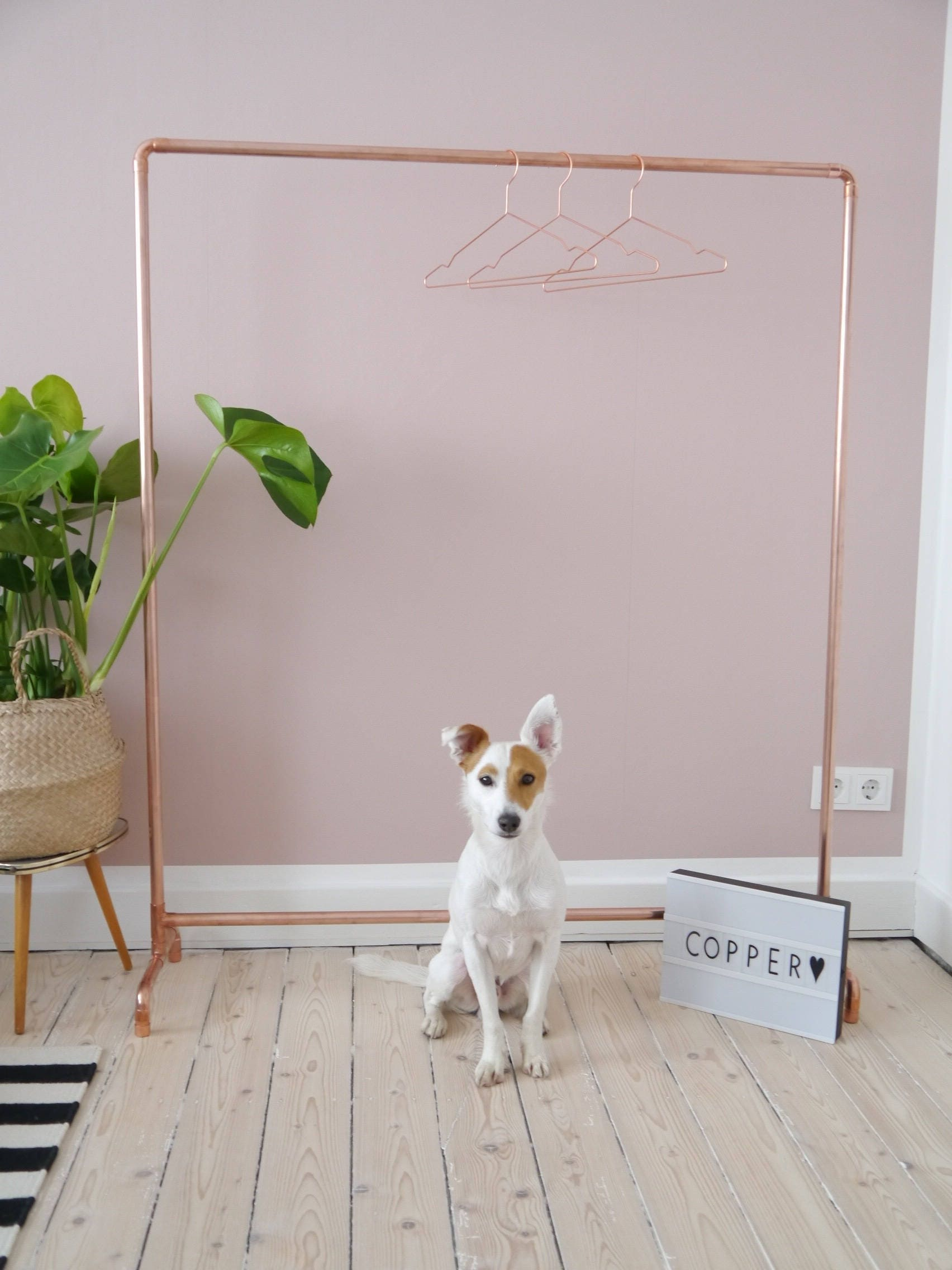 Copper Coat Rack Copper Clothing Rack Rosegold Industry Design Etsy