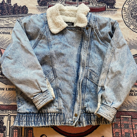 Adult Vintage 90's Andy Johns Denim Sherpa Jacket