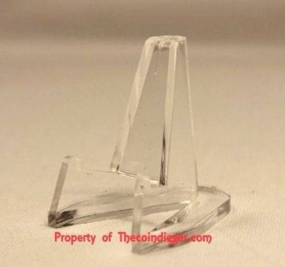 10 Count Small Clear Acrylic Display Stand Easels by Air-Tite