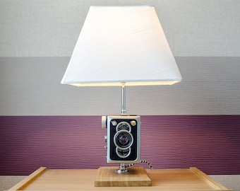 Upcycled Zeiss Ikon Box Tengor 56/2 Camera Lamp - Upcycled Zeiss Box Camera - Upcycled Zeiss Lamp
