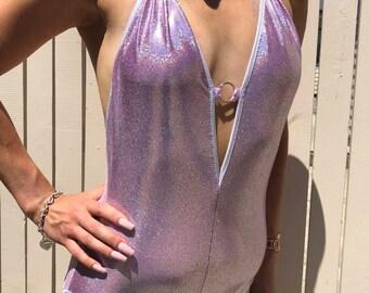 Lilac Holograpgic Bodysuit